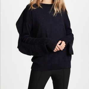 Project Naadam Ruffle Crewneck Sweater - Size L